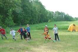 Cubs at play during summer camp.